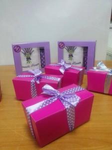 cutii lavanda cadou